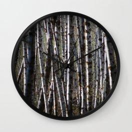 Messy trees Wall Clock