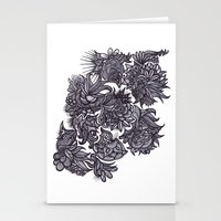 zentangle Stationery Cards featuring Zentangle; by Shivani C