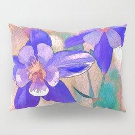 Colorado Columbine Flower Pillow Sham