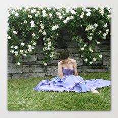 Woman in Garden Canvas Print