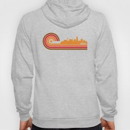 Retro Lincoln Nebraska Skyline Hoody