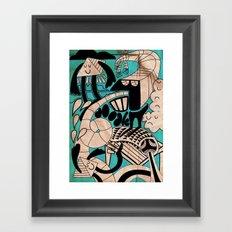 lovely doodles Framed Art Print