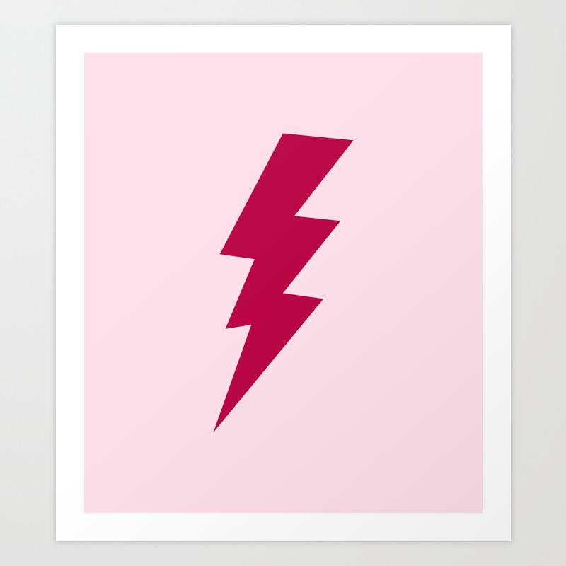 Red Lightning Bolt Art Print By Redbuffalo Society6