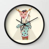 boob Wall Clocks featuring i touch my boob by Yna Crez