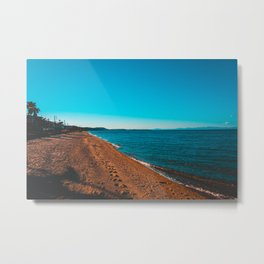 Greece Village at bay in the afternoon Metal Print