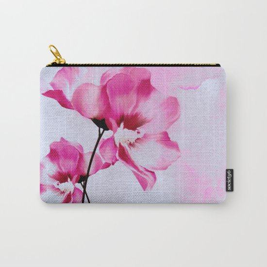 two pinks flowers on watercolors Carry-All Pouch