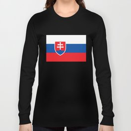 Slovakian Flag - High Quality Image Long Sleeve T-shirt