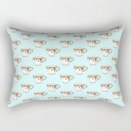 Teacup Pattern Rectangular Pillow