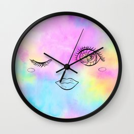 Sparkle Wink Wall Clock