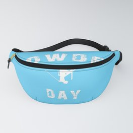 Powder Day Light Blue Fanny Pack