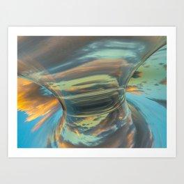 Sunrise Tornado: digital abstraction Art Print