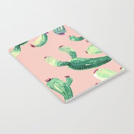 savage Cactus on pink @society6 Notebook