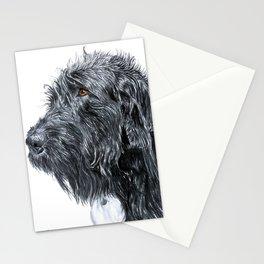 Black Labradoodle Stationery Cards