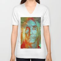 iggy V-neck T-shirts featuring Iggy by Ganech joe
