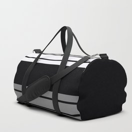 Team Colors 9...Black, white and gray Duffle Bag