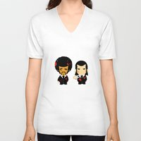 pulp fiction V-neck T-shirts featuring pulp fiction by sEndro