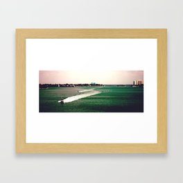 dash Framed Art Print