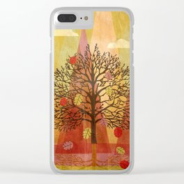 Autumn Tree Clear iPhone Case