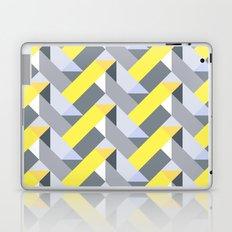 Herringbone geometric yellow Laptop & iPad Skin