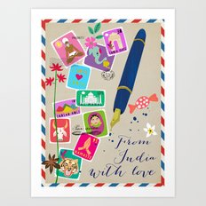 From India with Love Art Print