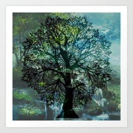 Tree Mandala Art Print