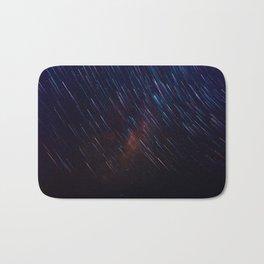 The Galaxy Rains (Color) Bath Mat