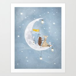 starlight wishes with you Art Print