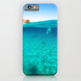 underwater,swim with me iPhone Case