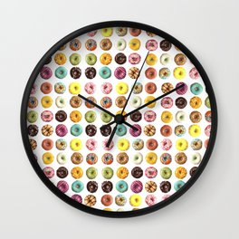 Eat all the donuts Wall Clock