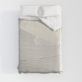 Relief [1]: an abstract, textured piece in white by Alyssa Hamilton Art Duvet Cover