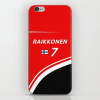 f1 iPhone & iPod Skins featuring F1 2015 - #7 Raikkonen by MS80 Design