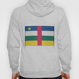 Flag of Central African Republic. The slit in the paper with shadows. Hoody