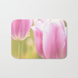 Spring is here with wonderful  colors - close-up of tulips flowers Bath Mat