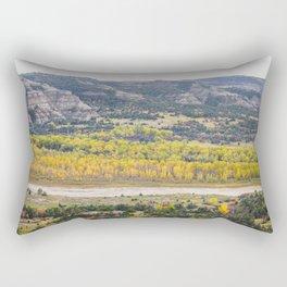 Badlands, Theodore Roosevelt NP, ND 19 Rectangular Pillow