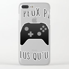 Game Plus qu'une Clear iPhone Case