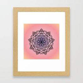 Baesic Sunset Traquil Mandala Framed Art Print