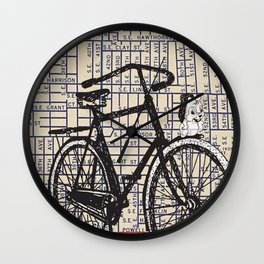 Bicycle with Mascot, S.E. 37th and Hawthorne, You Are Here, Portland. Wall Clock