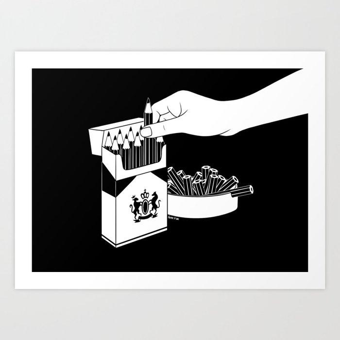 Art Addiction Art Print