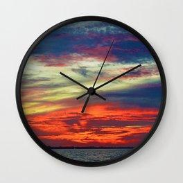 October Lake St.Clair Sunset Wall Clock