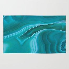 Agate sea green texture Rug