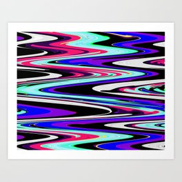 Retro Waves & Fuzzy Walls Art Print