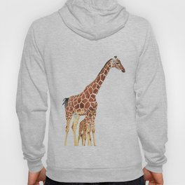 Giraffe Art - A Mother's Love - By Sharon Cummings Hoody