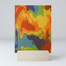 Melting Rainbow Pour Mini Art Print