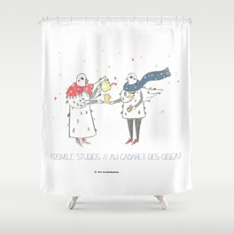 If i were a brid by Andsmile studios Shower Curtain