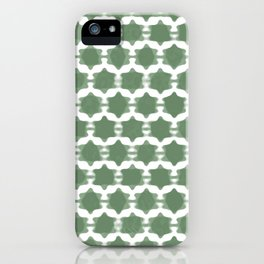 Hexagram Pattern: Green iPhone Case