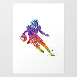 American Football Player Art Print