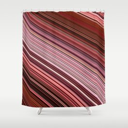 Maroon Earthy Filaments Digital Threads Shower Curtain