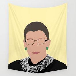 Ruth Bader Ginsburg Yellow Wall Tapestry