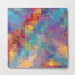 Fragmented Microcosms Metal Print