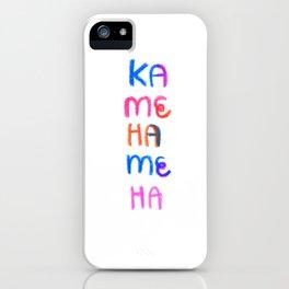 Rainbow Kamehameha 001 iPhone Case
